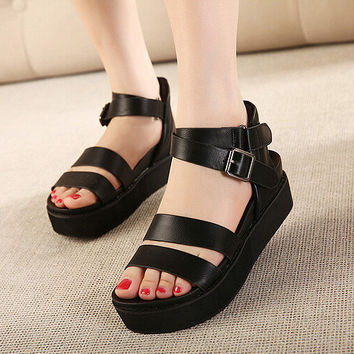 Women Summer Classical Wedge Shoe= 4538077892