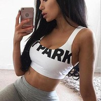 Women Sexy Crop Top Beyonce Tank Top Ivy Park Letter Cropped Tops Halter Bodycon Bra Vest Haut Femme Mujer Cloth