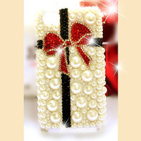 iPhone 4 case - iPhone 5 case - best iphone 4 case - iphone 4 bow case - pearl iphone 4 blling case - pearl iphone 5 case iphone 4 cover