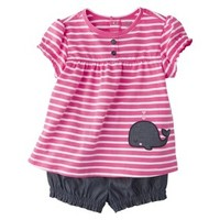 Just One You™Made by Carter's® Newborn Infant Girls' 2 Piece Set - Dark Pink/Denim