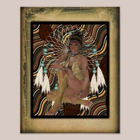 American Indian Princess Poster from Zazzle.com