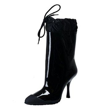 Miu Miu Patent Leather High Heel Ankle Boots Shoes