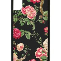 Black Floral iPhone X Case