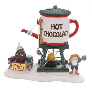 Department 56 Accessory HOT CHOCOLATE TOWER Porcelain North Pole Series 56872
