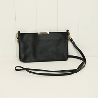 FAUX-LEATHER CROSSBODY FLAT POUCH