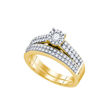 Diamond Bridal Set in 14k Gold 0.67 ctw
