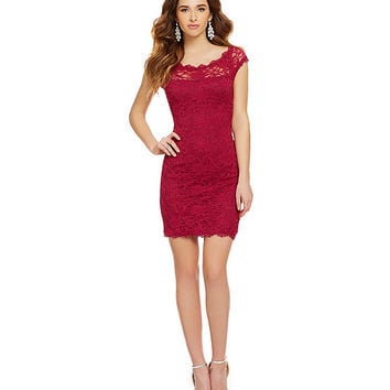 Jump Eyelash Trim Lace Dress | Dillards