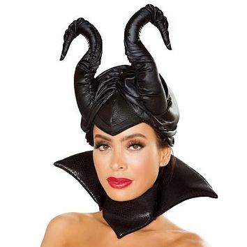 Sexy Maleficent Villainous Fairy Horn Headpiece