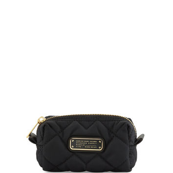 Crosby Quilted Nylon Small Cosmetics Bag, Black - MARC by Marc Jacobs