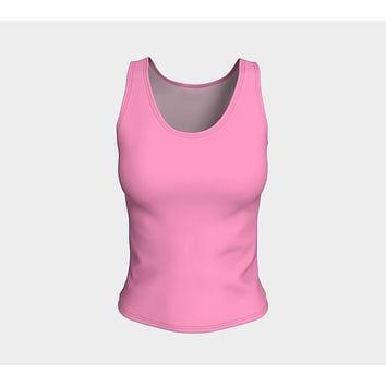 Solid Fitted Tank Top - Light Pink
