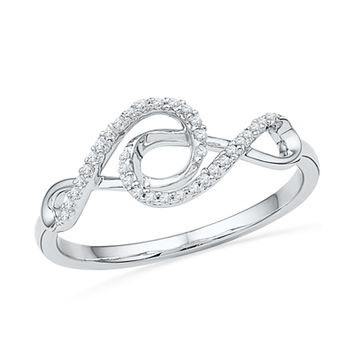 1/10 CT. T.W. Diamond Double Infinity Ring in Sterling Silver