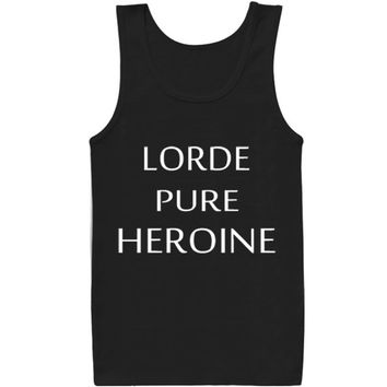 Lorde Pure Heroin Lorde Music for tank top