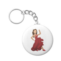 Dancer Emoji Key Chain
