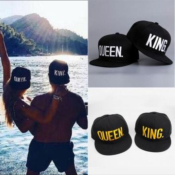 NEW KING QUEEN Snapback Hat Mens Womens Couple Baseball Cap Fashion Hip-hop Hats