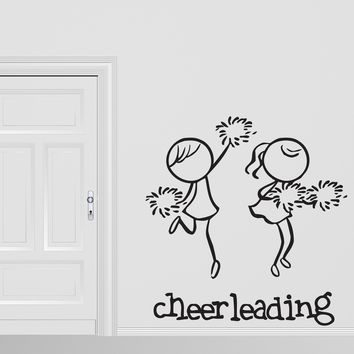 Vinyl Decal  Wall Stickers Cheerleading Sport Teams Support Athletic Unique Gift (n453)