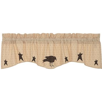 Kettle Grove Crow and Star Valance