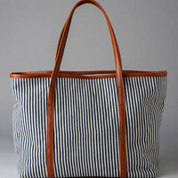 SAN DIEGO STRIPED TOTE