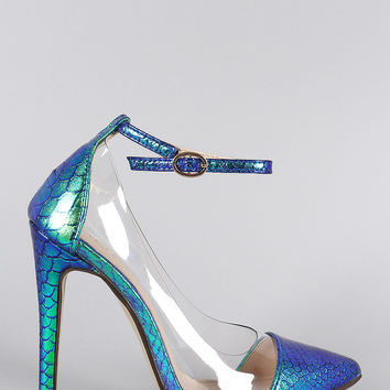 Liliana Holographic Mermaid Lucite Pump