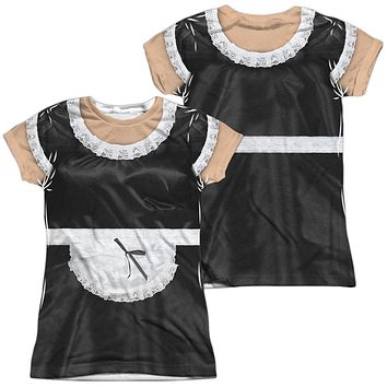 French Maid Halloween Costume Juniors T-shirt Front & Back