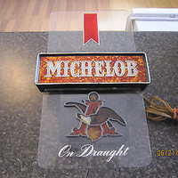 michelob on draught light up beer sign