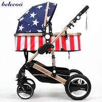 Be good at calligraphy belecoo bella baby stroller folding four-wheel shock absorbers baby stroller