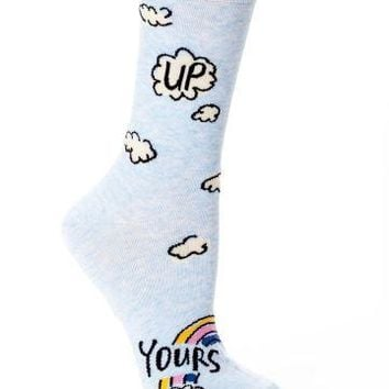 Up Yours Crew Socks