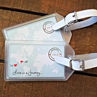 Luggage Tag Favors for Destination Weddings , Bridal Showers , Engagement Parties , OOT Bags , Welcome Bags, Destination Wedding Favors
