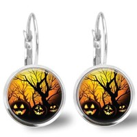 Pumpkin Earrings Halloween Earrings
