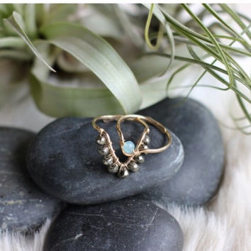 Muse Stone Triangle Ring