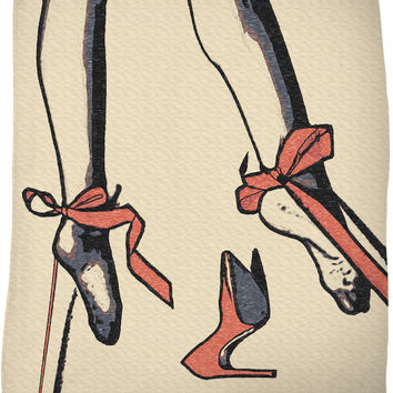 Adult series, fleece throw blanket - Stockings and ribbons, submissive girl tied