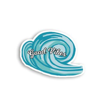 Good Vibes Wave Magnet - Ocean Hawaii Magnet - Cute Magnet - Positive Magnet - Tumblr Magnet - Fridge Magnet - Awesome Magnet - Cool Magnet