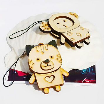 [Wooden Animals - 5] - Cell Phone Charm Strap / Handbags Charms