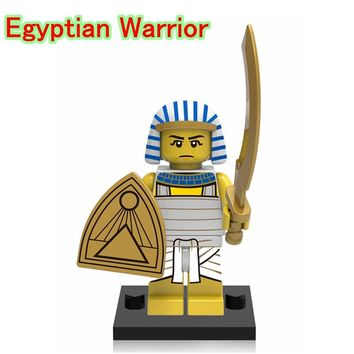 Egyptian Warrior Mini Dolls Single Sale Medieval Egyptian Limited Edition 71002 DIY Building blocks Toys For Children XH626