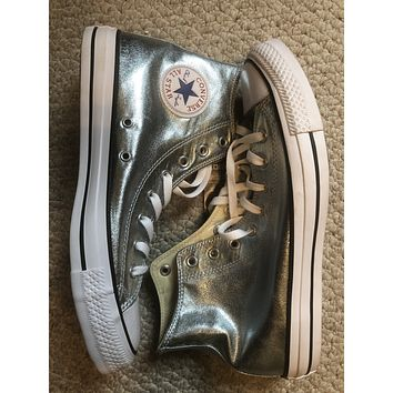 Space suit silver all star chuck Taylor sz11