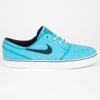 Nike Sb Zoom Stefan Janoski Canvas Mens Shoes Blue Lagoon/Obsidian  In Sizes