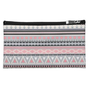 Colorful Tribal Aztec Pattern Medium Cosmetic Bag
