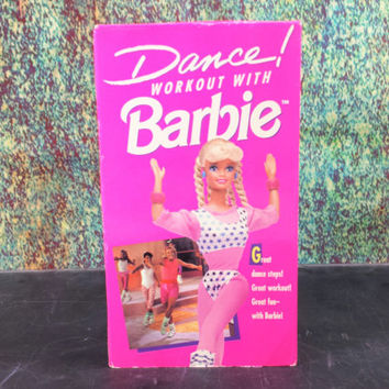 90s Dance Workout with Barbie VHS Tape Stop Motion Animation Vintage Retro Video Cassette Tape Kids Exercise Childrens Aerobics Videotapes