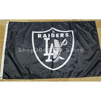 Los Angeles raiders flag with Oakland Raiders flags 3ftx5ft