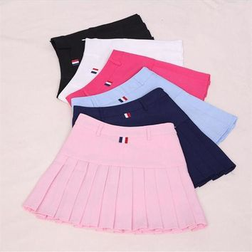 CREYET7 Harajuku Women Ball Pleated Skirts School Style Uniform 2017 Spring Summer Plus Size Korean Girls A-line High Waist Mini Skirts