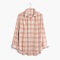 Central Long-Sleeve Shirt in Danville Plaid : | Madewell