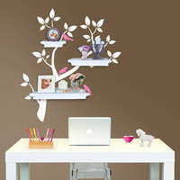 Tree Branch Decal with Birds for Shelves  Gender by Lulukuku