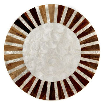 Sunburst Inlay Capiz Placemat S/4 by Deborah Rhodes