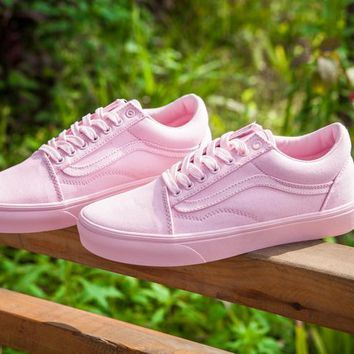 LMFON Vans 50 Anniversary ZH05 Pink Low Tops Flats Shoes Canvas Sneakers Sport Shoes