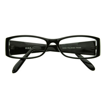 Classic Fashion Slim Frame Optical Eyewear Glasses with Clear Lenses