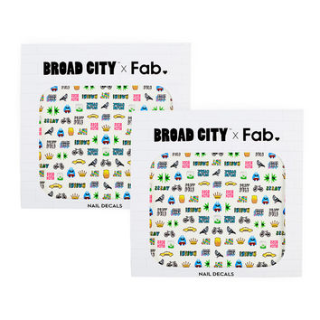 So into this design on Fab! Broad City Nail Decals Set of 2 #FabForAll