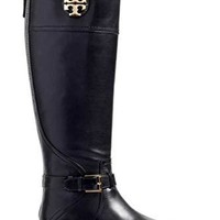 Tory Burch Adeline 20MM Tumbled Riding Boot Leather Shoes 50922