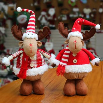 Christmas Elk Dolls Toy Christmas Tree Hanging Ornaments Holiday Festive Decoration Pendant for Home Christmas Supplies