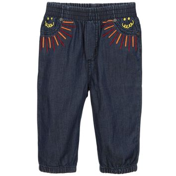 Stella McCartney - Baby Girl Rainbow Organic Pull On Jeans