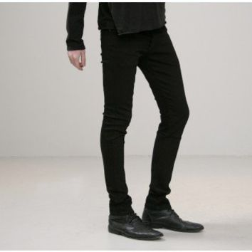 kill city stretch twill junkie jean black Oak
