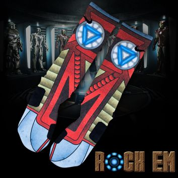 Stark Industries Iron Man Custom Nike Elite Socks | Rock 'Em Apparel